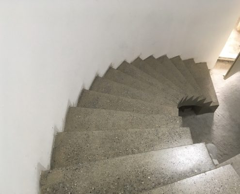 Polished Concrete Curved Stairs
