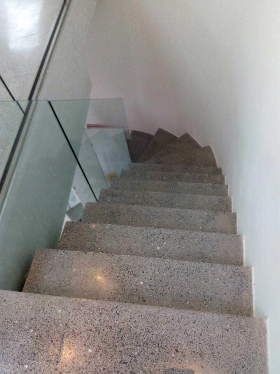 Polishing completed on stairs